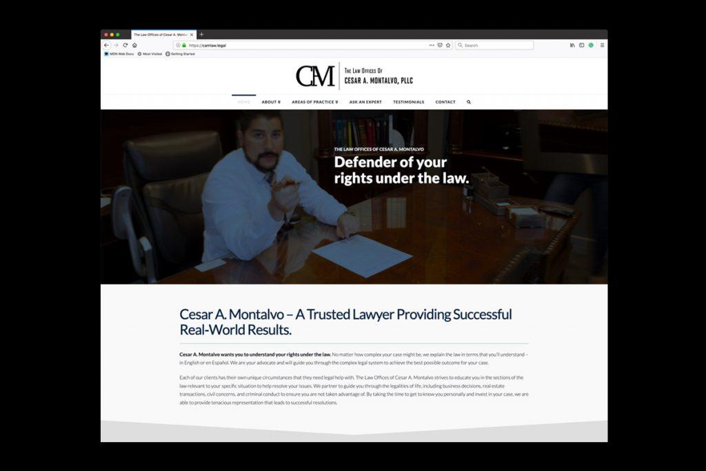 Cesar A Montalvo Law